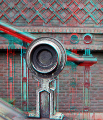 stairs building Blaak Rotterdam 3D (wim hoppenbrouwers) Tags: blaak rotterdam 3d anaglyph stereo redcyan