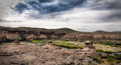 The Border (j.franknewman) Tags: nature desert landscape scenics rockobject mountain outdoors sky geology aridclimate cloudsky travel canyon extremeterrain valley beautyinnature dry nopeople usa texas rio grande river