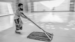 Khadem sweeping 3860 3bw (shahidul001) Tags: mosque prayer religion spirituality islam baiturrouf agakhanaward architecture marinatabassum light design community