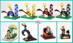 Minifigs.me Minifigure Display Stands (AzureBrick) Tags: lego minibuilds minifugre display cmf custom stand minifigsme