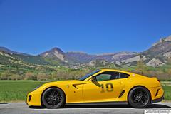Ferrari 599 GTO (Sellerie'Cimes) Tags: ferrari 599 gto sprixgt road trip giallo tristrato
