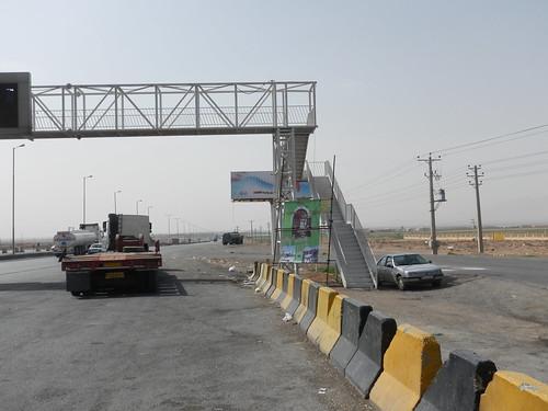 Passerelle, route Téhéran-Ispahan