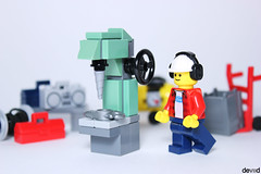 Column drilling machine (Devid VII) Tags: column drilling drill machine devid vii moc lego minifig city company work minifigs details