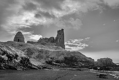 Dunure Castle, Ayrshire (Scotland in Infrared) Tags: storm castle seaside coastline sea sonyalpha infrared dusk dunure 720nm coast ayrshire conversion ir a100 converted
