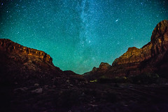 Milky Way over Zion National Park (BrendanBannister) Tags: moody pnw washington pacific northwest zion national park angels landing horsehoe bend arizona utah milky way stars astro long exposure grand canyon