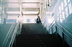 boy on stairs (InSoManyWords) Tags: film fujisuperia200 35mm zenit taiwan taipei