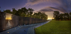 Vietnam Veterans Memorial Pano (D. Scott McLeod) Tags: vietnamveteransmemorial vietnam veterans memorial thewall dawn nationalmall dc washingtondc districtofcolumbia monument panorama dscottmcleod scottmcleod