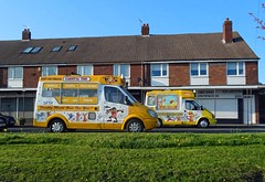 Anyone for Ice Cream? - West Moor (Ermintrude73) Tags: v372ddk ford icecream icecreamvan icecreamtruck vehicle transport commercial phillswhippy whippy carnivaltime