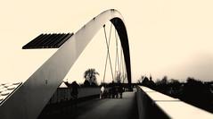 043 - The Bridge (Fr@nk ) Tags: maastricht brug nieuw bridge new bw sony nex5 europe krumpaaf mrtungsten62 interesting interestingness frnk