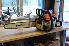 Stihl MS180C with a slightly longer bar (44 Bikes) Tags: 44bikes stihl chainsaw