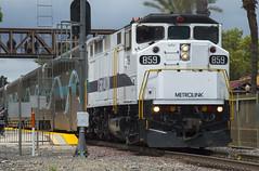 SCAX 859 Departing Fullerton (MichaelLovesTrains) Tags: fullerton railroad days metrolink emd f59ph rotem car