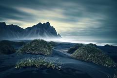 Vestrahorn (EtienneR68) Tags: landscape blue bleu eau hills montagne mountain nature paysage vestrahorn snaefellsnes sea marque d810 nikon pays iceland islande type longexposure