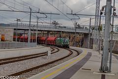 SŽ 541.001 (DavideEos) Tags: treno train zug eisenbahn ferrovia railway divača merci frieght binari güterzug sž siemens taurus es64u4 e190