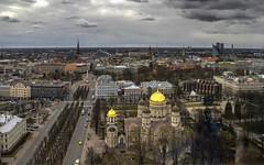 Una Riga dall'alto (Fil.ippo) Tags: riga lettonia latvia above panorama cityscape d610 filippo filippobianchi clouds sky cielo water