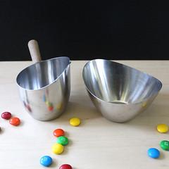 Danish Modern. (Kultur*) Tags: vintage vintagehousewares housewares serving steel stainlesssteel teak danmark midcenturymodern scandinavian danish denmark danishmodern creamer sugarbowl madeindenmark