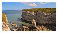Chalk stack at Breil nook. (A tramp in the hills) Tags: chalk flamborough eastyorkshire kittiwakes