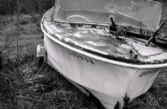 Small Craft Warning (drei88) Tags: forlorn boat bleak dreary faded sad lonely recreation memories lost overgrown drydock