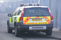 5433 - NWAS HART - BX58 BYY - 003 (Call the Cops 999) Tags: uk gb united kingdom great britain england north west greater manchester park road bury fire thursday 27 april 2017 999 112 emergency service services vehicle vehicles nwas ambulance nhs national health trust hart hazardous area response team rrv rapid bx58 byy mercedes benz sprinter bx11 hnk paramedic paramedics volvo xc70 4x4 battenburg