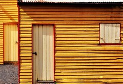 Cricket Clubhouse c.1862 (holly hop) Tags: tarnagulla australia centralvictoria places decay abandoned old historic walls windows rusty rustyandcrusty clubhouse cricket pavilion sport architecture building postprocessing sliderssunday yellow myplace 100xthe2017edition