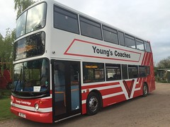 Young's Coaches Cambridge. New addition to the fleet on the road this week K5 YCC was LX03 BWD Dennis Trident 2. (Young's Coaches) Tags: