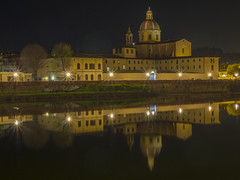 Florence (Wizard CG) Tags: firenze chiesa di san frediano cestello low light photography night water epl7 outdoor river landscape architecture building city florence arno toscana tuscany italy reflection travel longexposure worldtrekker ngc nightshots