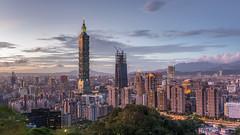 (王韋証) Tags: 台灣 台北 台北101 夕陽 太屯山 陽明山 象山 taiwan taipei taipei101 sunset sky