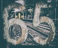 Numbers up (Blaydon52C) Tags: speed numbers sign signs desaturation 65 class156 sprinter northernrail arriva railway rail railways trains train transport dmu britishrail britishrailways