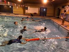 everyone in the swimming pool