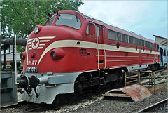 MAV  Diesel Locomotive M61 001 (Loco Steve) Tags: mav diesel locomotive m61001 railway nohab nydqvistholmab hungarianrailwaymuseum budapest hungary