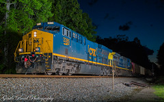 Turning back the clock (grady.mckinley) Tags: night clinchfield flash csx coal brice cliffside dkpx marion north carolina
