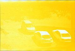 Yellow accident (elkarrde) Tags: accident yellow raw overexposed cars parking street zagreb croatia slidefilm diafilm colorpositivefilm colorpositive color expiredfilm 2016 spring spring2016 pointshoot superzoom olympus is5000 olympusis5000 fujichrome velvia rvp velvia50 50asa fujichromevelvia50