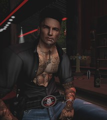 Creed (Racey / Rally To Rescue) Tags: ghost bully motorcycle club revival president red rooster blues music beer bar
