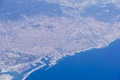 Aerial view on Barcelona Spain (roli_b) Tags: aerial view barcelona barcelone spain espana españa spanien luftbild panorama panoramic vista photo picture bild travel cityscape city scape skyline port puerto playa reisen viajar turismo tourism