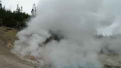Beryl Spring in action (jimsawthat) Tags: steam hotspring video national park rural thermalfeature yellowstonenationalpark wyoming