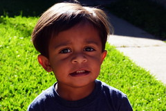 """Eeee!"" (Sampada Chavan) Tags: son toddler outdoors backyard portrait"