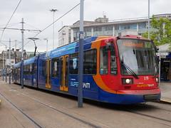 Sheffield Supertram 119 (Boothby97) Tags: sheffieldsupertram tram 750vdcelectric 750vdc stagecoach yorkshire sheffield castlesquare siemensduewag supertram119 yellowline