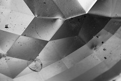 Pixelated vision (Djaron van Beek) Tags: abstract lines segments bw blackandwhite geometric curves rectangles triangles monochrome pattern bigpixels lightandshadow textures metal metallic closeup partofawhole aesthetic eclectic angles dirt stains scatteredparticlesofsoil insideofafragmentedmask reflectorofalamppost notthatmuchprocessed foundthisonthestreetjustbesidesaconstructionsite weird dividedintoboxes allegoryforsimplifyingreality allegoryforadjustingrealitytosomethingcompletelydifferent allegoryforcensorshipwithpixels folds bokeh dof depthoffield mathematical actuallyanunknownsubject framed composition geometry steel material smallcrumple wrinkle screenfilling odd afeelingofwrongperspectives distortionofspace disturbanceofaroom greytones confusion platesofsteel glow 3dtexture concentricstrokes artistic arty artsy imaginative graphic djaron djaronvanbeek