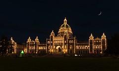 Parliament Building at Night (Victoria, BC Canada) (Sveta Imnadze) Tags: travel landmarks victoria britishcolumbia historicbuilding canada