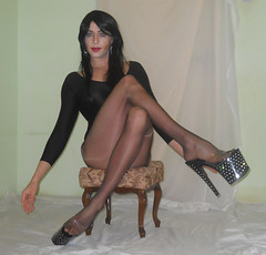 Pleasers and Eternos (queen.catch) Tags: catchqueen youtubevideo pleasers stardust cecilia de rafael cdr eterno 15 tranny shemale transvestite leotard sissy boi