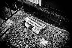 News at the door. (Igor Danilov Philadelphia) Tags: bw mono texture steps newspaper new philadelphia newyork times door nikon d700 dslr digital igordanilov игорьданилов