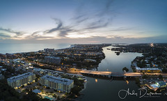 Siesta Key Twilight (andy_deitsch) Tags: dji florida mavic sarasota siestakey aerialphotography southbridge bridge sarasotabay siestakeybeach twilight sunset