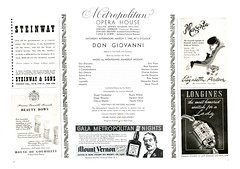New York Advertisements: (painting in light) Tags: advertisement advert ad sell selling 1946 newyork illustration drawing art dongiovanni conducted brunowalter starring eziopinza rosebampton alexanderkipnis contemporary advertisements don giovanni bruno walter ezio pinza rose bampton alexander kipnis steinway piano alcohol whiskey watch time arden longines