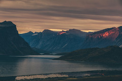 Red Light Zone (Andrew G Robertson) Tags: auyuittuq pangnirtung sunset nunavut canada arctic national park red fjord sunrise baffin island