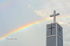 God's promise (Jordan Lye) Tags: church rainbow methodist colorful god promise cross sign religion christian