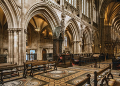 Lichfield Cathedral - the Bishop's Seat. (ricsrailpics) Tags: uk staffordshire lichfield cathedral interior bishopsseat cathedra explore 2017