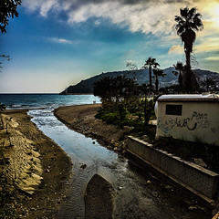 Hidden (Melissa Maples) Tags: alanya turkey türkiye asia 土耳其 apple iphone iphone6 cameraphone square 11 mediterranean sea water fener lighthouse river palmtree tree spring