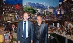 Serge Perottino a inauguré la grande crèche de Cadolive réalisée par Christian Herpe - 20151204