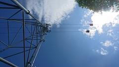 Cabin to the top (Theo Bauhuis) Tags: cable car high blue sky up kabelbaan harz germany duitsland omhoog steig stieg hexenstieg wanderung trekking
