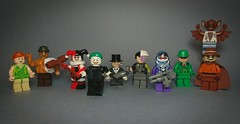 Gaslight Batman Villains (Vladislav Pavlovich) Tags: lego custom minifigures batman joker harley ivy mrfreeze riddler scarecrow manbat clayface penguin twoface dc