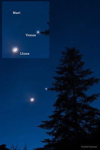 Conjunció Lluna i Venus